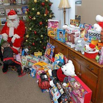 State Rep. Timothy S. Mahoney recently conducted his annual Christmas Toy Drive to benefit clients of Fayette County Children and Youth Services. Donors who visited his Uniontown constituent service office got to meet Santa Claus, while helping fill a bus full of toys for needy children.