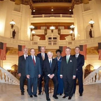 Newly elected House Democratic Leadership Team in the majestic Main Rotunda of the Capitol.