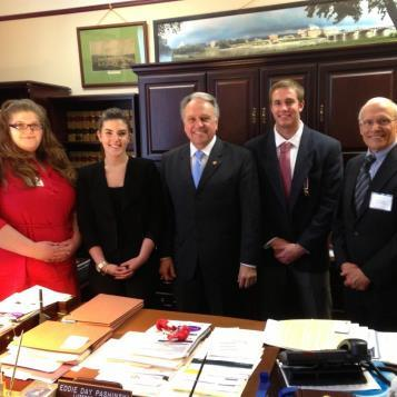Political Science students and Dr. Thomas Baldino from Wilkes University visit Rep. Eddie Day Pashinski in his Harrisburg office.