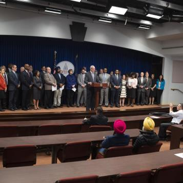 On Wednesday, Oct. 30, 2019, Rep. Dan Frankel, D-Allegheny, and other legislators gathered in Harrisburg to introduce legislation to prevent and address hate crimes across commonwealth.