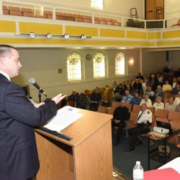 Rep. Dan Deasy hosts a Heroin & Opiate Community Awareness Town Hall meeting to spearhead discussions and involvement to combat the public health and safety crises caused by addictions.