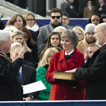 Congratulations to Gov. Tom Wolf on being sworn in for his 2nd term as Pennsylvania Governor.  The House Democratic Caucus is ready to work with you on our Plan For Pennsylvania.