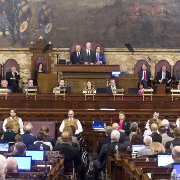 The theme of Good Jobs, Quality Schools, Fair Taxes, and putting People First were welcomed words given by Governor Tom Wolf during his budget address to a joint session of the House and Senate.