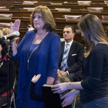 In a special ceremony at the state Capitol, Jeanne McNeill was sworn in to represent the Lehigh Valley's 133rd Legislative District as state representative, becoming the 48th female currently serving in the Pennsylvania General Assembly.