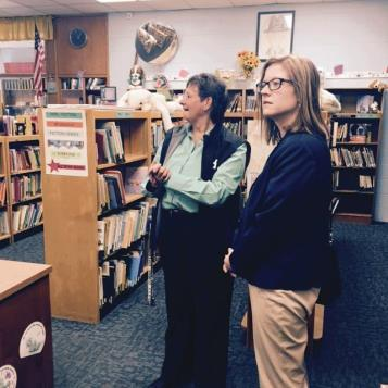 Touring Ridley School District with Superintendent Lee Ann Wentzel.