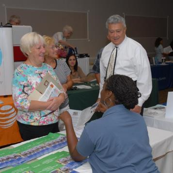 Scene from Rep. DeLuca's Consumer Fair that he co-hosted with Rep. Dermody and Rep. Dom Costa.