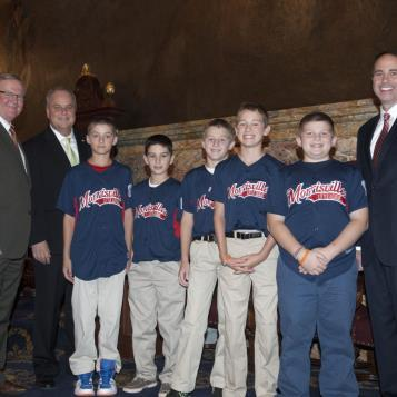 Rep. Galloway and Rep. Steve Santarsiero recognized the Morrisville Little Legaue 10-11 year old all-star team for winning the 2013 Pennsylvania State Championship!