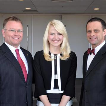Rep. Harkins and state Senator Sean Wiley (49th) welcome Elizabeth Smart to Erie on April 2. Smart, a 2002 kidnapping victim, was guest speaker at the Erie Crime Victims dinner in the Erie Convention Center