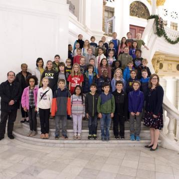 It was great to have a visit from students at Wallingford Elementary in early December!