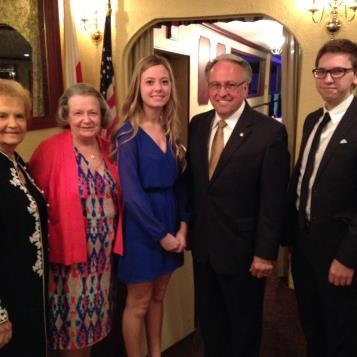 Rep. Pashinski with the committee from Wilkes University presenting student scholarships.