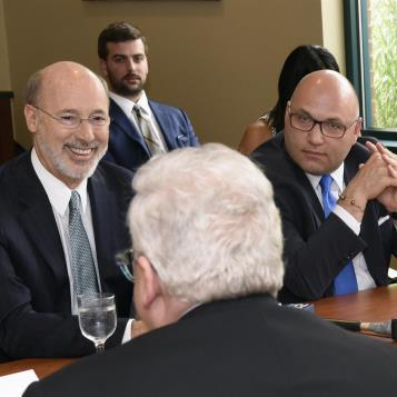 Rep. Rob Matzie joins Gov. Tom Wolf for a roundtable discussion on how Beaver County's workforce and infrastructure can prepare for the construction of the Shell ethane cracker plant expected to deliver thousands of construction jobs and thousands of operational and ancillary jobs to the region.