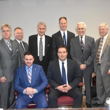 Rep. Pat Harkins (back row, second from left) was elected secretary of the Northwest Democratic Delegation for the 2017-18 legislative session. Harkins is flanked to his left by Rep. Scott Conklin, treasurer, and to his right by Reps. Chris Sainato, Mark Longetti, Flo Fabrizio and Bryan Barbin. Seated in front (from left) are Rep. Ryan Bizzarro, vice chairman, and Rep. Frank Burns, chairman.