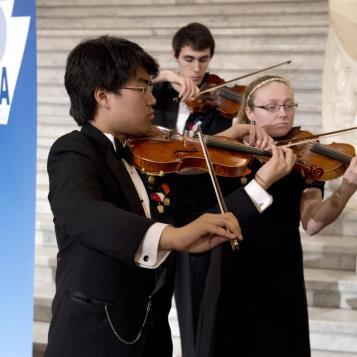 Our Photo of the Day features student musicians who came to the Capitol as part of Rep. Eddie Day Pashinski's effort marking Music In Our Schools Day.