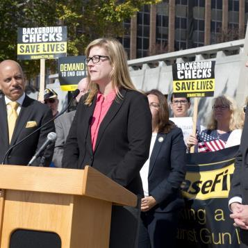 I joined fellow legislators and advocates for a press conference calling for commonsense gun laws.